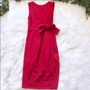 ASOS Red Bow Front Mini Sheath Dress